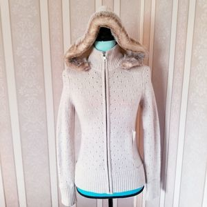 Banana Republic Hooded Sweater 100% Lamb's Wool XS